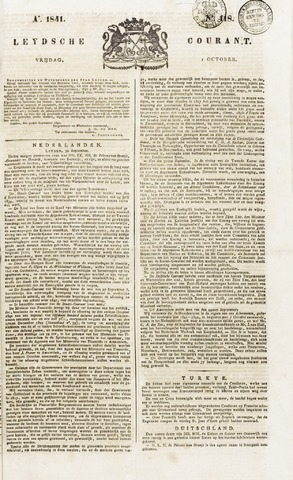 Leydse Courant 1841-10-01