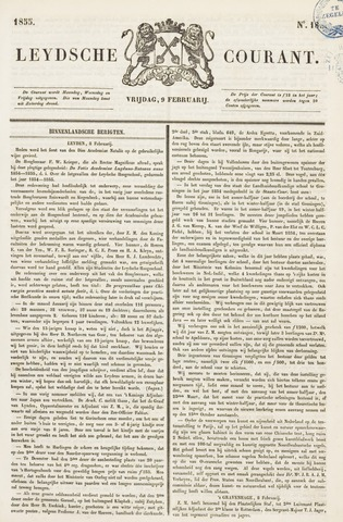 Leydse Courant 1855-02-09