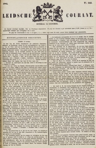 Leydse Courant 1884-10-14