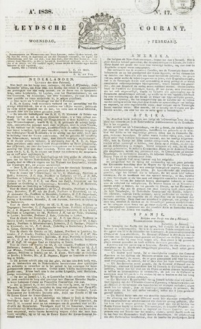 Leydse Courant 1838-02-07