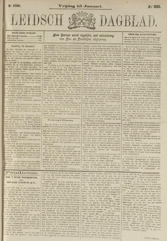Leidsch Dagblad 1892-01-15