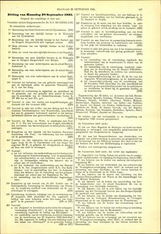 Handelingen van de Raad 1925-09-28
