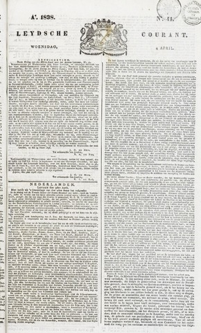 Leydse Courant 1838-04-04