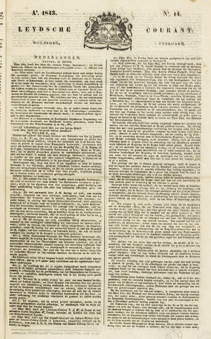 Leydse Courant 1843-02-01