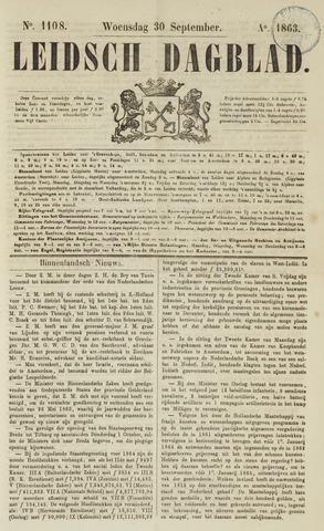 Leidsch Dagblad 1863-09-30