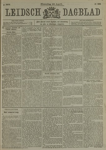 Leidsch Dagblad 1909-04-19