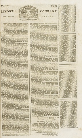 Leydse Courant 1826-05-31