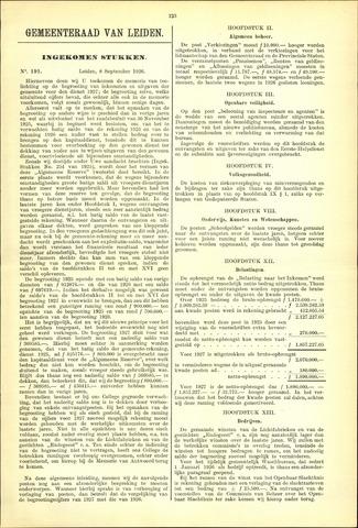 Handelingen van de Raad 1926-09-08