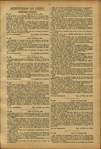 Handelingen van de Raad 1894-02-12
