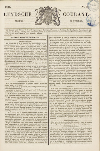 Leydse Courant 1844-10-25