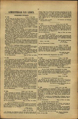 Handelingen van de Raad 1886-07-05