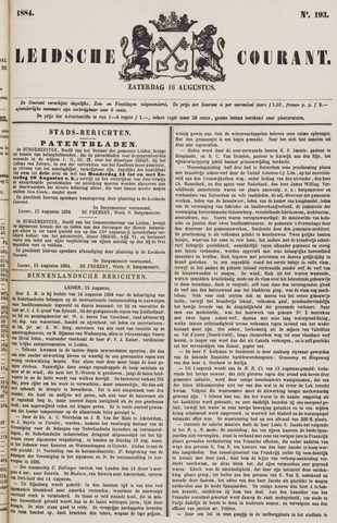 Leydse Courant 1884-08-16