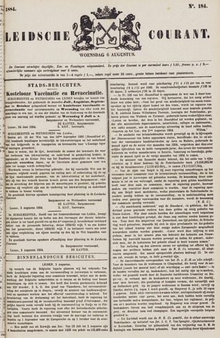 Leydse Courant 1884-08-06