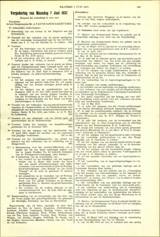 Handelingen van de Raad 1937-06-07