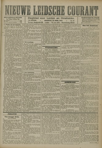 Nieuwe Leidsche Courant 1923-04-23