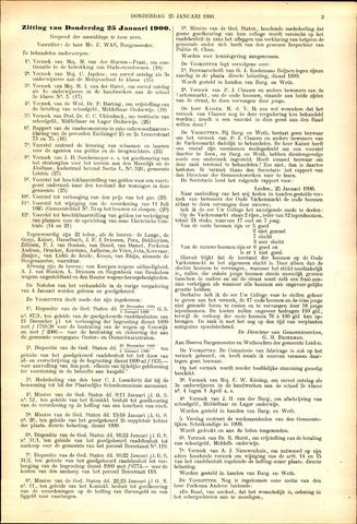 Handelingen van de Raad 1900-01-25
