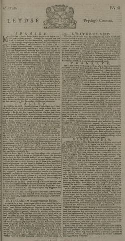 Leydse Courant 1739-05-15