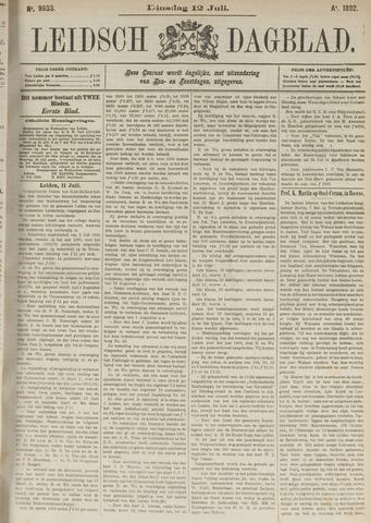 Leidsch Dagblad 1892-07-12