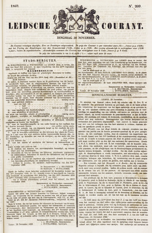 Leydse Courant 1869-11-30