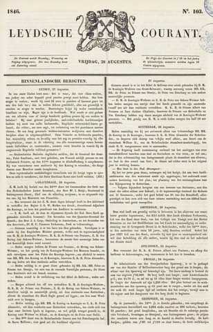 Leydse Courant 1846-08-28