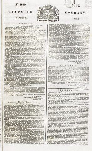 Leydse Courant 1839-05-13