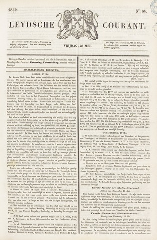 Leydse Courant 1852-05-28