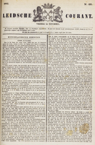 Leydse Courant 1882-11-24
