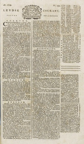 Leydse Courant 1819-11-19