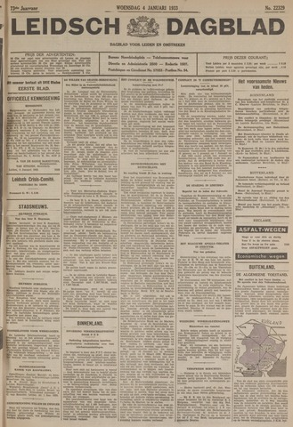 Leidsch Dagblad 1933-01-04