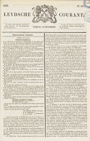 Leydse Courant 1853-11-25