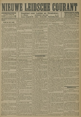 Nieuwe Leidsche Courant 1923-07-07
