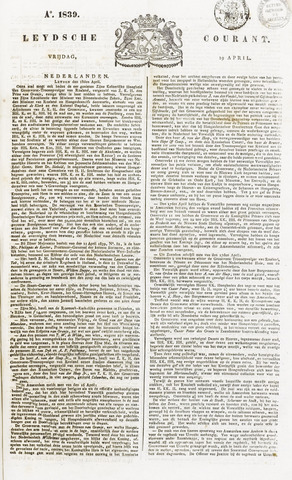 Leydse Courant 1839-04-19