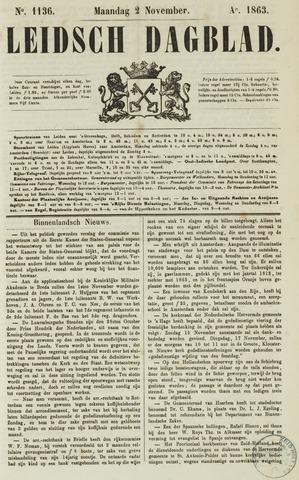 Leidsch Dagblad 1863-11-02