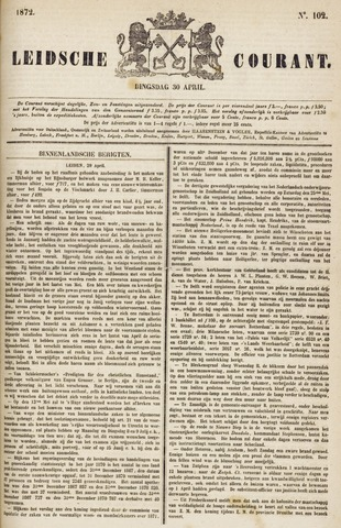 Leydse Courant 1872-04-30