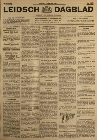 Leidsch Dagblad 1932-01-05