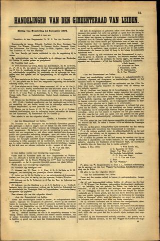 Handelingen van de Raad 1872-11-14