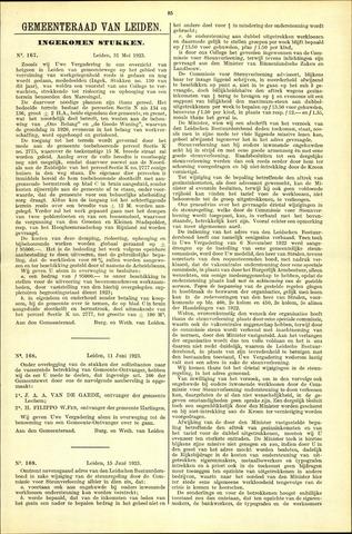 Handelingen van de Raad 1923-05-31