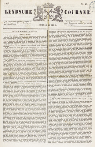 Leydse Courant 1869-04-23