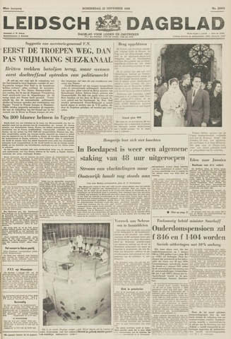 Leidsch Dagblad 1956-11-22