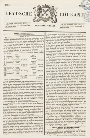 Leydse Courant 1855-03-07