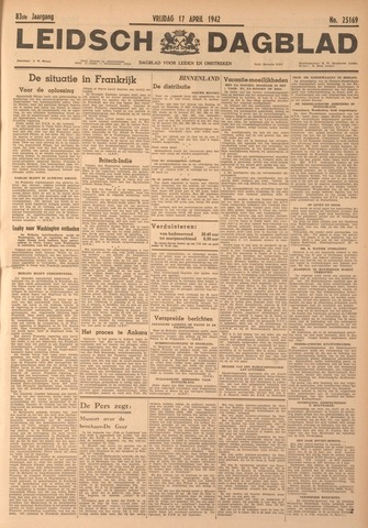 Leidsch Dagblad 1942-04-17