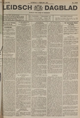 Leidsch Dagblad 1933-02-04