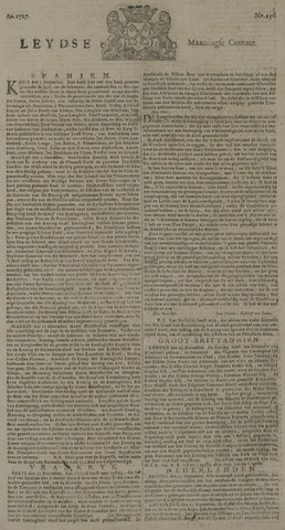 Leydse Courant 1727-12-29