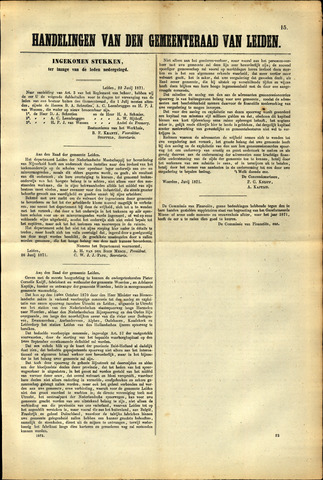 Handelingen van de Raad 1871-06-22
