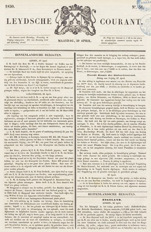 Leydse Courant 1850-04-29