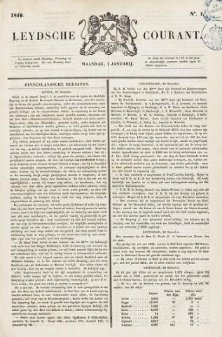 Leydse Courant 1849-01-01