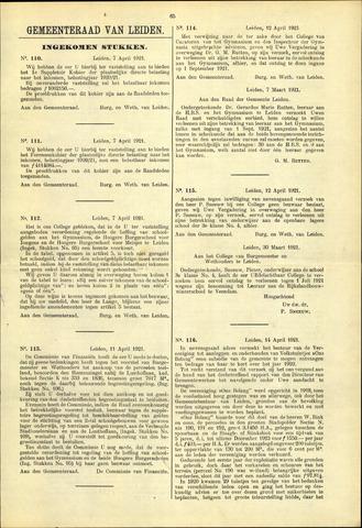 Handelingen van de Raad 1921-04-07