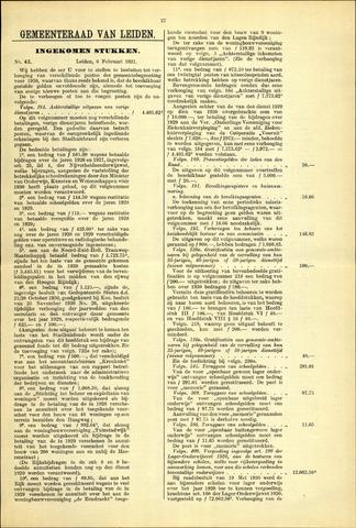 Handelingen van de Raad 1931-02-06