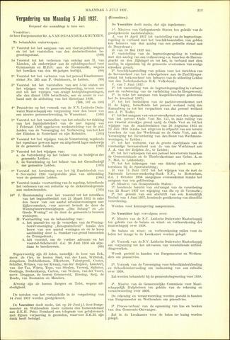 Handelingen van de Raad 1937-07-05