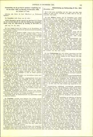 Handelingen van de Raad 1933-12-19